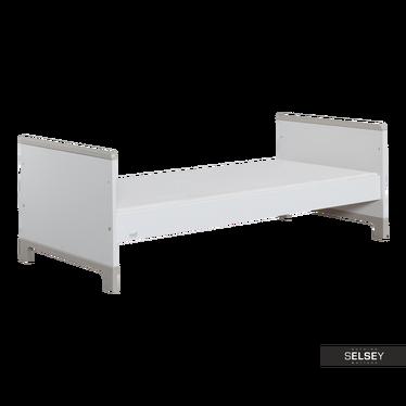 Kinderbett MINI weiß/grau 70x160 cm