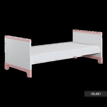 Kinderbett MINI weiß/rosa 70x160 cm