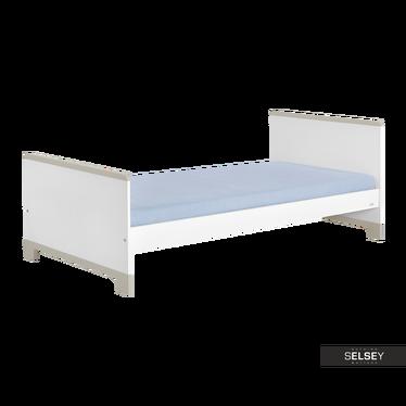 Kinderbett MINI weiß/grau 90x200 cm