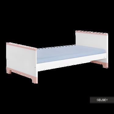 Kinderbett MINI weiß/rosa 90x200 cm