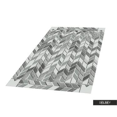 Teppich HILLY GEOMETRIE I Platin