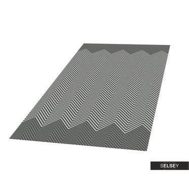 Teppich HILLY GEOMETRIE V Platin