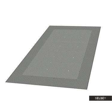 Teppich HILLY GEOMETRIE VI Platin