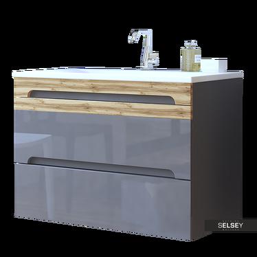 Waschbeckenunterschrank WARNER grau 80 cm
