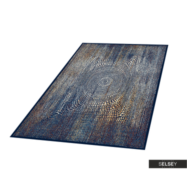 Teppich BASAL ABSTRAKT II dunkelblau
