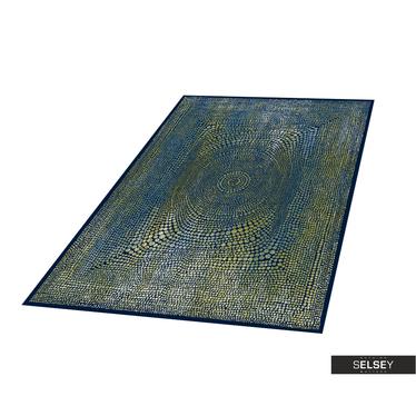 Teppich BASAL ABSTRAKT II grün/dunkelblau