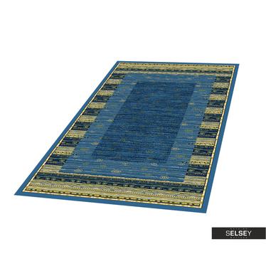 Teppich BASAL GEOMETRIE III dunkelblau