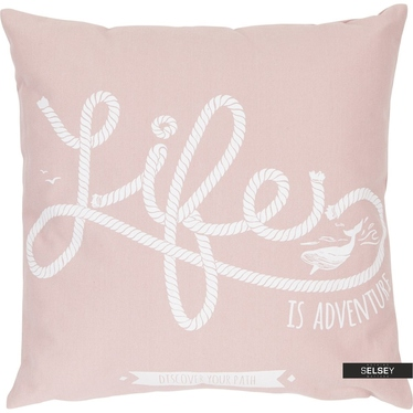 Dekokissen LIFE rosa 47x47 cm