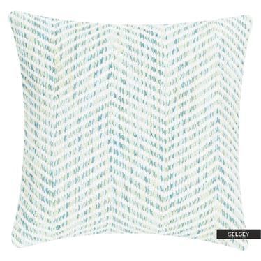 Dekokissen MELANGE ZIGZAG blau 45x45 cm