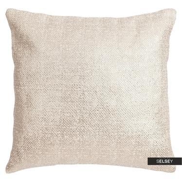 Dekokissen HEAVY weiß mit Kupfer 45x45 cm