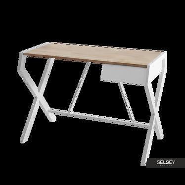 Schreibtisch NAYTHA in Sonoma Eiche/Weiß