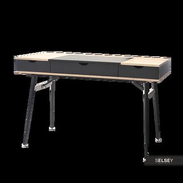 Schreibtisch BODUNA schwarz im skandinavischen Stil