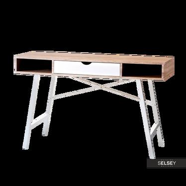 Schreibtisch LOREN Sonoma Eiche/weiß mit Schublade