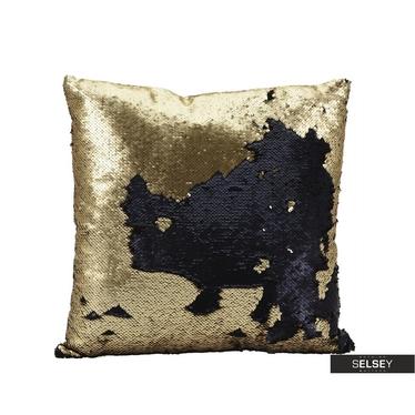 Dekokissen SPARLLES mit Pailletten gold/schwarz 45x45 cm