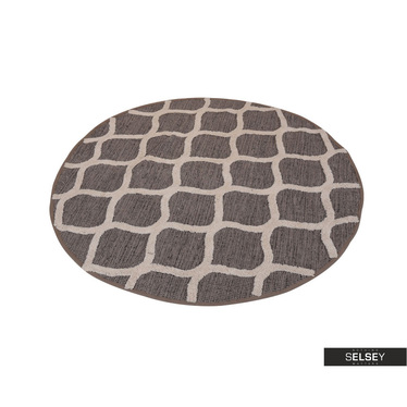 Teppich WABE braun 120 cm