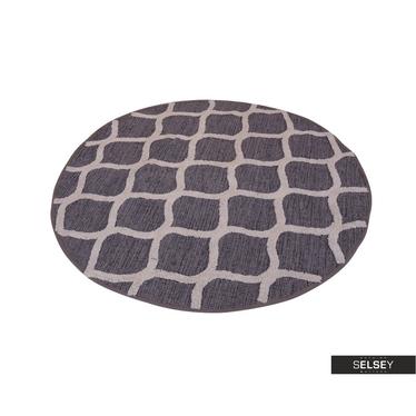 Teppich WABE grau 120 cm