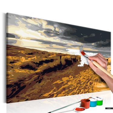 Malen nach Zahlen EINSAMER STRAND 60x40 cm