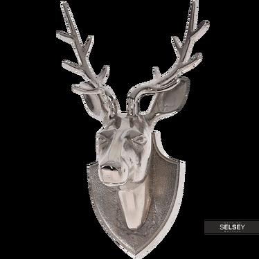 Hirschkopf silber 34,5 cm