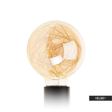 Glühbirne PARKLIM G95 rund mit 50 LED golden