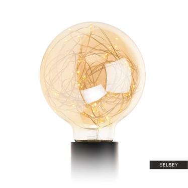 Glühbirne PARKLIM G125 rund mit 50 LEDs golden