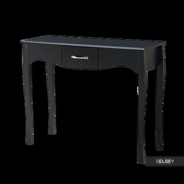 Konsolentisch LUARCA 102 cm schwarz mit Schublade