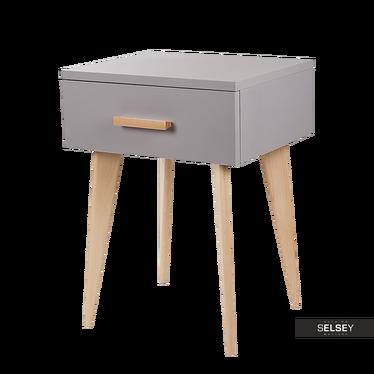 Nachttisch SICILIA grau mit Schublade