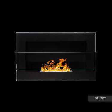 Ethanol-Kamin LITTLE FLAME schwarz 65x40 cm mit Struktur