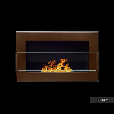 Ethanol-Kamin LITTLE FLAME braun 65x40 cm mit Struktur