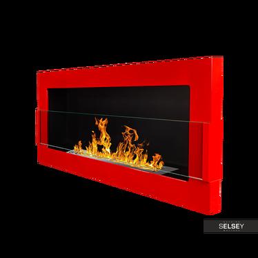 Ethanol-Kamin ASTRALIS rot Hochglanz 90x40 cm