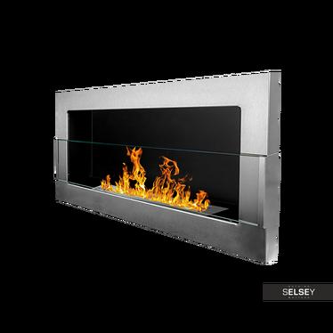 Ethanol-Kamin BIG FLAME Inox 90x40 cm