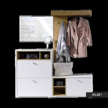 Garderoben-Set JULIET u.a. mit Sitzbank und Kleiderstange