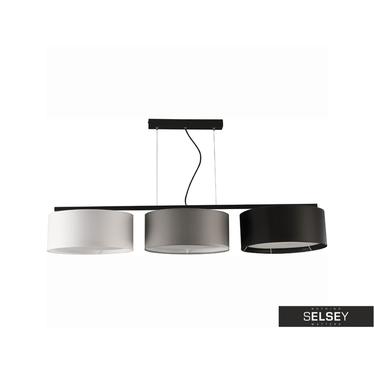 Pendelleuchte HARMONY schwarz/grau/weiß 3-flammig lang