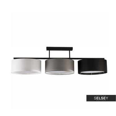 Pendelleuchte HARMONY schwarz/grau/weiß 3-flammig