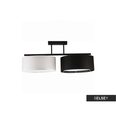 Pendelleuchte HARMONY schwarz/weiß 2-flammig