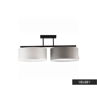 Pendelleuchte HARMONY grau/weiß 2-flammig