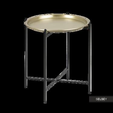 Nachttisch MILLIERA in Messingoptik 39,5 cm rund