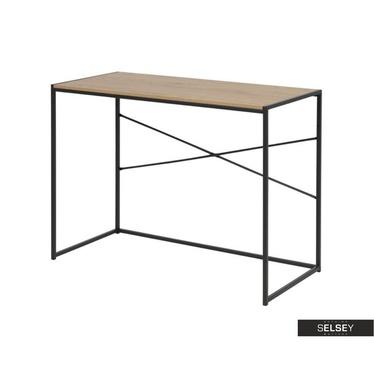 Schreibtisch SEAFORD Eiche/schwarz