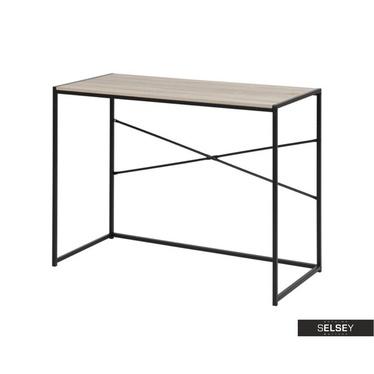 Schreibtisch SEAFORD Sonoma Eiche/schwarz