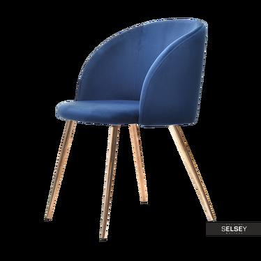 Polsterstuhl GARY blau