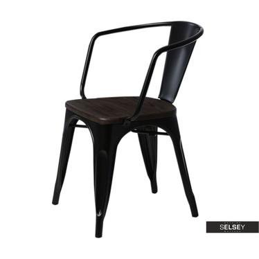 Stuhl PARIS ARMS WOOD schwarz/Kiefer