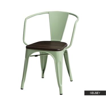 Stuhl PARIS ARMS WOOD grün/Kiefer