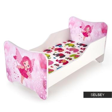 Kinderbett LAYLLA für Mädchen rosa/weiß