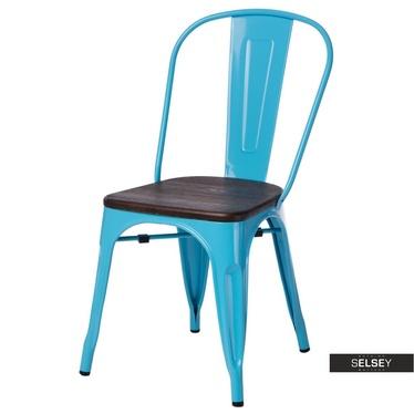 Stuhl PARIS WOOD blau/Kiefer