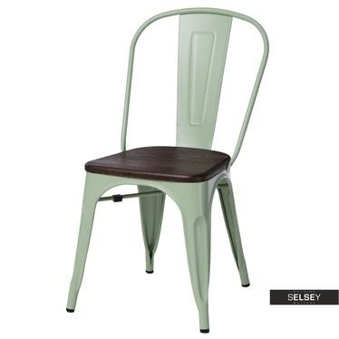 Stuhl PARIS WOOD grün/Kiefer
