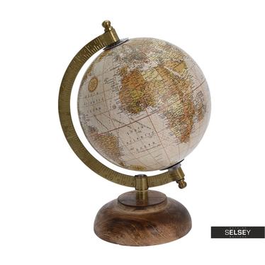 Globus rosa 13 cm mit Holzfuß