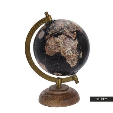 Globus schwarz 13 cm mit Holzfuß
