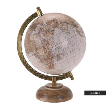 Globus rosa 16 cm mit Holzfuß