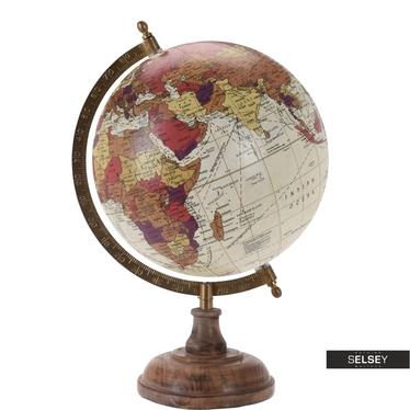 Globus cremefarben 20 cm mit Holzfuß