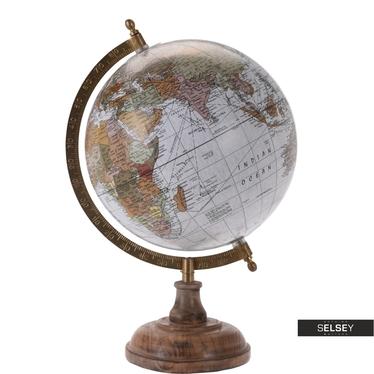 Globus grau 20 cm mit Holzfuß