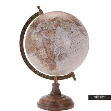 Globus rosa 20 cm mit Holzfuß